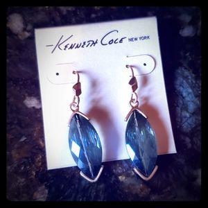 NWT Kenneth Cole Blue Teardrop Gem Earrings